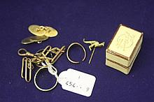Hallmark gold: 9ct. Cufflinks set - boxed, 9ct. ri