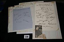 Autographs/Cricket: 1948 Cricketers to include Sur