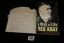 Autographs: Reggie Kray four page letter signed