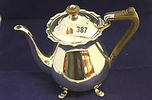 Hallmark silver: Teapot, Birmingham makers mark S.