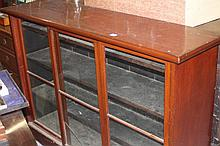19th cent. Mahogany bookcase with sliding door and