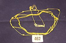 Gold jewellery: 9ct. hallmarked chains (2) Named p
