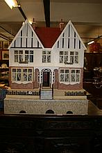Toys: 20th cent. Dolls house over three stories wi