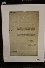 Prime Minister/ Political: Signed letter from Vis