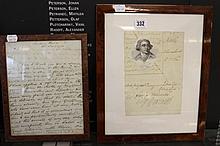 Prime Minister/ Political: Handwritten signed let