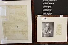 Prime Minister/ Political: Letter dated 1748 sign