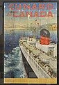 OCEAN LINER: C.E. Turner Cunard to Canada poster.