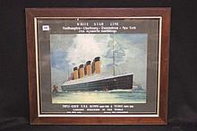 R.M.S. TITANIC: James Scrimgeour Mann (1883-1946). Extremely rare White Sta