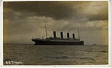 R.M.S. TITANIC: Rare sepia photo postcard of