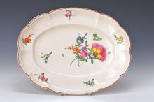 Oval plate, Ludwigsburg, 1770, flower painting