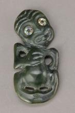 Hei-Tiki, Amulet of Maori, New Zealand,