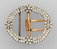 Belt buckle with rhine stones, Germany or France 1870/80