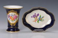 Vase and Bowl, Meissen, 2.half 20th C.