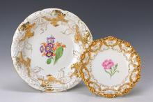 Two magnificent plates/bowls, Meissen