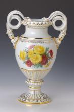 Big vase, Meissen, to 1880, flower decor