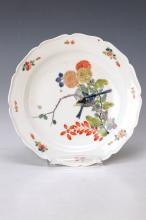Plate, Meissen, 1740, Kakiemon decor with birds