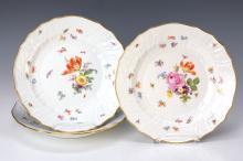 Three plates, Meissen, around 1880