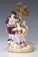 Porcelain group, Meissen, around 1880