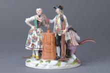 Porcelain group Meissen, dat. (17)59