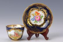 Mocha cup and saucer, Meissen, early 20th C.