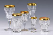 Extensive glass service,  2nd half 20th C.