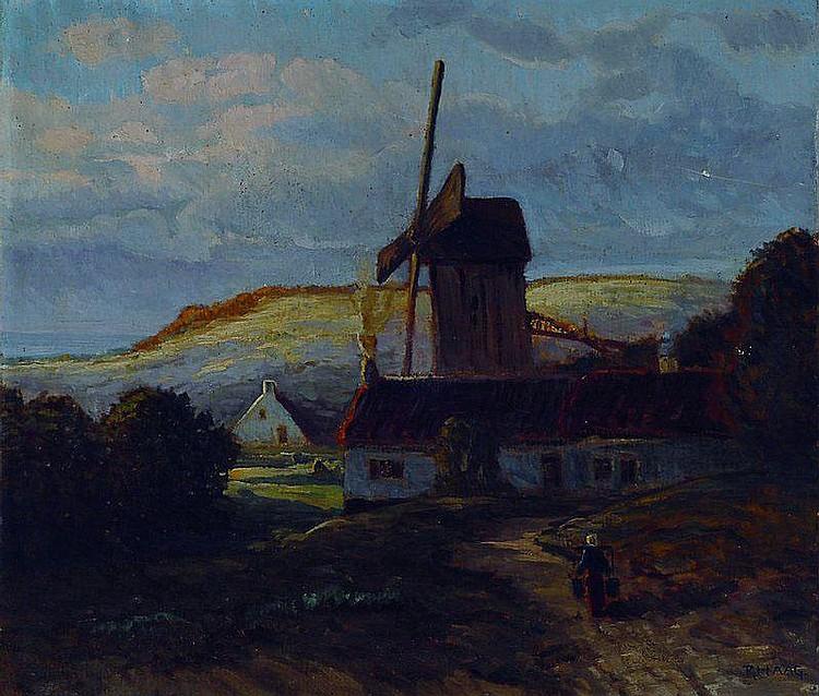 Haag, Robert G., 1886-1955, Flandrische Windmühle,