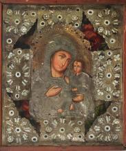 Icon, Western Russia, around 1830-40, Madonna and Child,