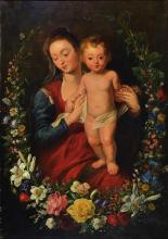 Unidentified master of the 18/19. C., Mary with the child