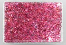 Lot loose bevelled rubies