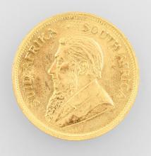 Gold coin, Kruegerrand, South Africa, 1974,