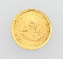 Gold coin, 1 Rand, South Africa, 1971