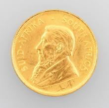 Gold coin, 1/2 Kruegerrand, South Africa