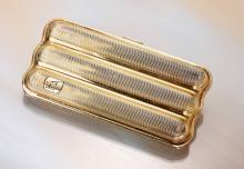Cigarre case, silver 925 gilded, german approx. 1957