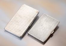 Lot 2 silver cigarete cases