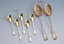 12 ice cream silver spoons