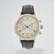 BREGUET classic rattrapante in 18k white gold