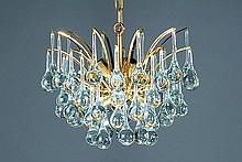 Deckenlampe und zwei Wandlampen, 2. H. 20. Jh.,