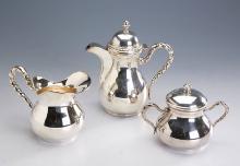 3-piece silver coffee set, Italy