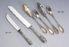 CHRISTOFLE cheese and bread knifes, model ?Vinea?