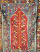Anatolian 'Prayer-Kilim', Turkey, circa 1930, wool/wool