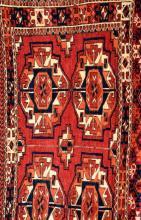 Tekke 'Torba', Turkmenistan, circa 1930, wool/wool