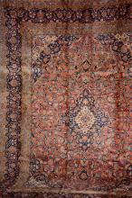 Kashan, Persia, circa 1930, wool/cotton, approx. 360 x 270