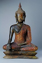 Big Buddha sculpture, Tibet, in 1900, Bronze,