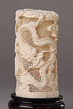 Big brush holder, China, 1900, ivory, fine