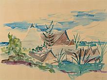 Eugeniusz Zygfryd Olszewski, 1924-2011, tempera on paper