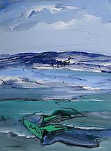 Franz Martin, born in 1957, gouache on paper