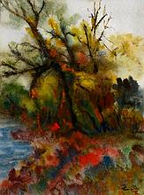 Unknown artist, watercolor on paper,