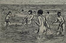 Max Liebermann, 1847-1935, original woodcut