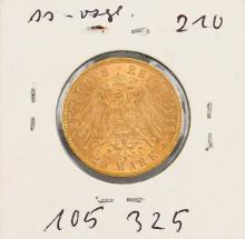 Gold coin, 20 Mark, Germany, 1913