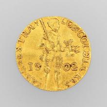 Gold coin, 1 guilder, Netherlands 1802